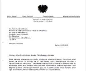 Diputados de Alemania - Ley sobre desapariciones forzadas