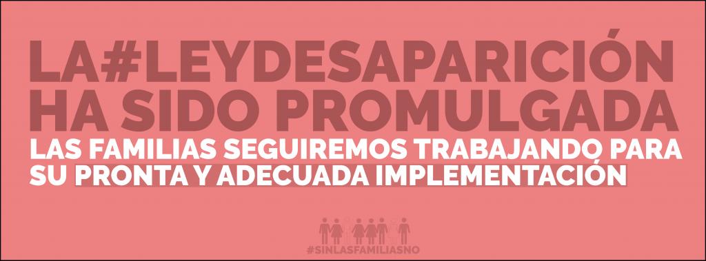 #LeyDesaparición