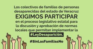 #LeyDesaparición #SinFamiliasNo