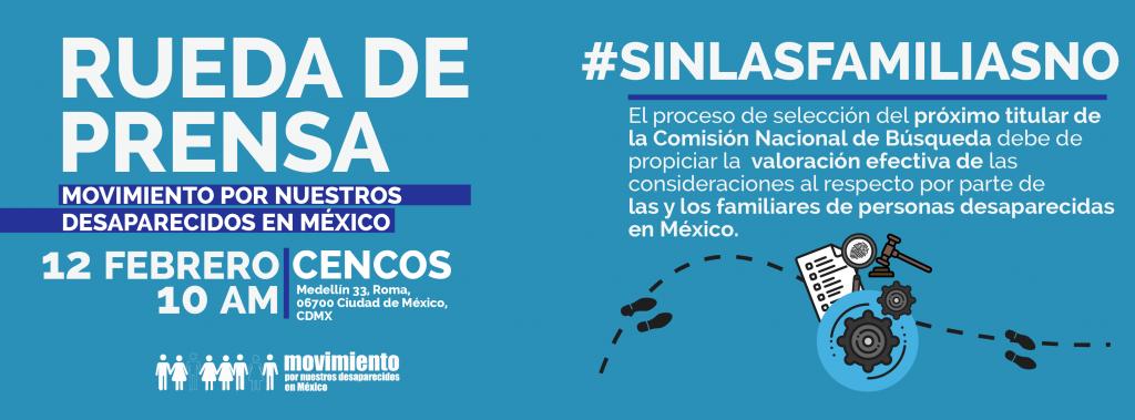 #SinFamiliasNo Rueda de Prensa