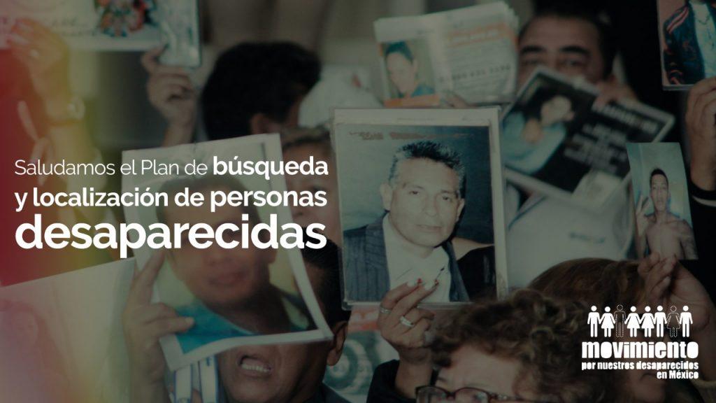 Saludamos el plan de búsqueda y localización de personas desparecidas