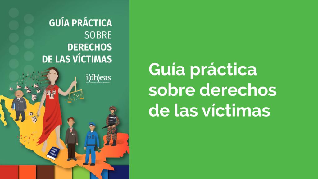 Portada de la Guía práctica sobre derechos de las víctimas