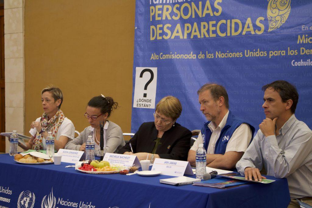 Movimiento por nuestros desaparecidos en México Michelle Bachelet