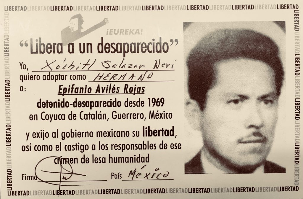 Libera a un desaparecido - Epifanio Avilés Rojas