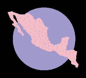 mapa del Movimiento por nuestros desaparecidos en México