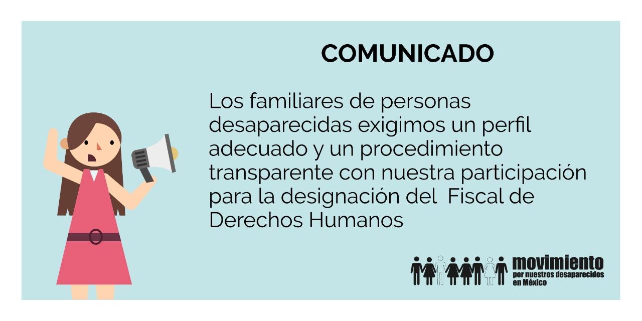 Comunicado - Familiares de personas desaparecidas en México